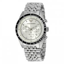 armani bracelet images Armani mens chronograph watch stainless steel bracelet silver dial jpg