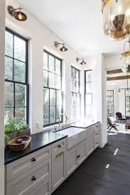 Hardware For Kitchen Cabinets White Kitchen Cabinets With Black And Gold Hardware Transitional