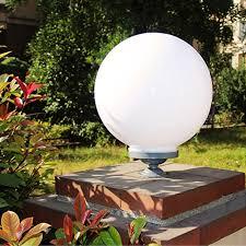 white plastic outdoor lighting top grade aluminum acrylic pillar light large white round pillar