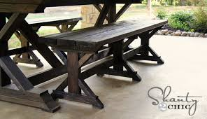Farm Tables With Benches Diy Bench Farmhouse Style Shanty 2 Chic