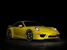 yellow porsche 2012 yellow techart 991 porsche 911 front eurocar