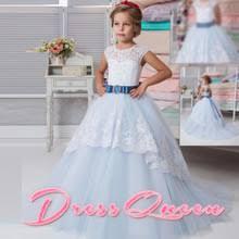 Flower Girls Dresses For Less - high quality light blue flower dress buy cheap light blue