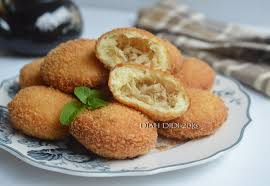 cara membuat donat isi ayam diah didi s kitchen roti goreng kentang isi ayam