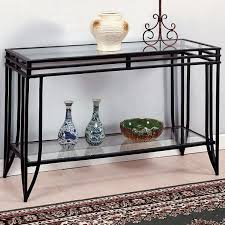 Iron Sofa Table by Crown Mark Matrix Glass Top Sofa Table Dunk U0026 Bright Furniture