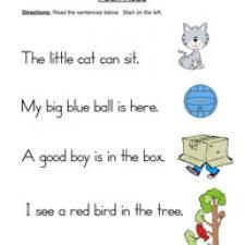 ideas of simple sentences worksheets about description