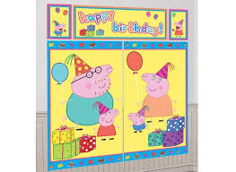 party city halloween scene setters peppa pig party supplies sweet pea parties