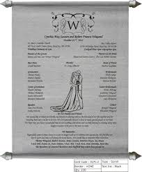 where to get wedding programs printed scroll wedding program wedding wedding programs