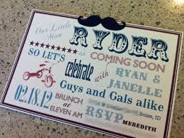 mustache invitations vintage little man themed baby shower