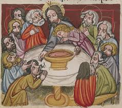 the last supper christ washing the apostles feet about 1400 10