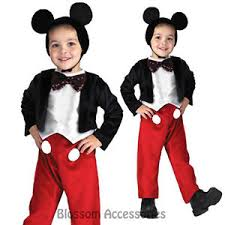 Mickey Mouse Toddler Costume Ck184 Disney Mickey Mouse Deluxe Fancy Toddler Child Boys Book