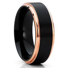 black titanium wedding band black titanium ring titanium wedding band men s wedding band