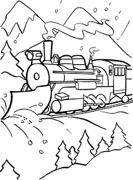 polar express train coloring printable sheets