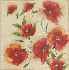 Serviette En Papier Fleur by Serviette En Papier Coquelicot Passioncreationcollection