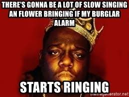 Notorious Big Meme - there s gonna be a lot of slow singing an flower bringing if my