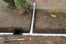 home design striking french drain installation with downspout and