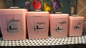pink canisters kitchen vintage kitchen canisters for sale galvanized tin canisters