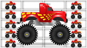 monster truck race videos red monster truck race monster trucks for children kids videos