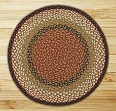 Circular Area Rugs Earth Rugs Area Rug 5 75 Burgundy Mustard