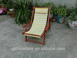 beach folding wood sling patio lawn chair adjustable chaise lounge