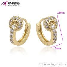 baby hoop earrings small baby 14k gold plated cz mini hoop earrings the