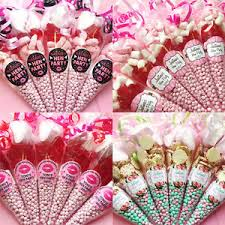 party favours personalised hen party favours pre filled sweet cones party bags