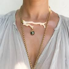 gold necklace fine jewelry images Coral gold necklace tahitian pearl haute victoire jpg