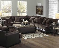 living room sectional with beige sofa and beige ceramic tile