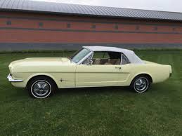 1966 mustang convertible value 1966 ford mustang convertible springtime yellow for sale photos
