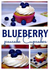 blueberry pancake cupcakes u2022 food folks and fun