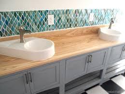 installing glass tile backsplash in kitchen lovely how to install glass tile backsplash in bathroom awesome home