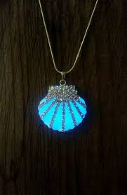 glow in the necklaces mermaid wedding necklace glow in the sea shell necklace
