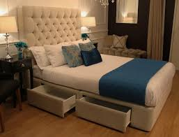 upholstered bed frame with drawers pictures reference