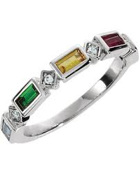 mothers rings white gold great deals on 14k white gold family s ring 5