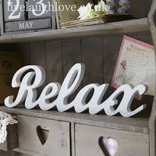 wood script word relax large just relax woods