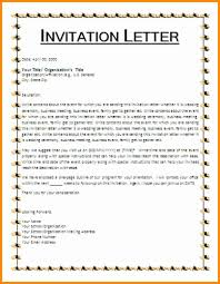 9 sample of invitation letter model resumed