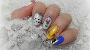 nail art disney la belle et la bête youtube
