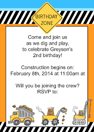 Birthday Invite Cards Free Printable My Toddler U0027s Construction Themed Birthday Party