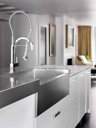 colored kitchen faucets faucets choosing the right kitchen sink and faucet hgtv design