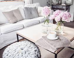 Ottoman Pillow Cushion by Large Crochet Pouf Ottoman Floor Cushion Pdf Pattern Instant
