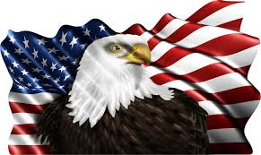 Us Flag Decal Wavy Us Flag With Eagle Patriotic Decal Fire Safety Decals