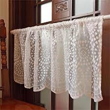 Lace Curtains Amazon Cafe White Lace Curtains Amazon Com