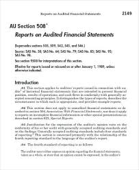 template for audit report 8 sle audit reports free sle exle format