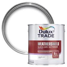 dulux trade exterior pure brilliant white satin wood u0026 metal paint