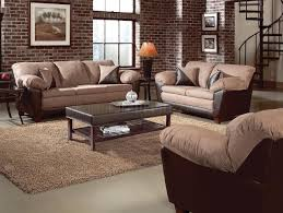 Transitional Living Rooms by Two Tone Mocha Transitional Living Room W Pillow Top Seating