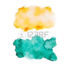 green blue colorful abstract hand draw watercolour aquarelle