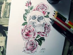 drawing with colored pencil tattoo by hid4draw on deviantart