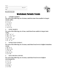 periodic table worksheet answer key worksheet periodic table trends answer key worksheets for all