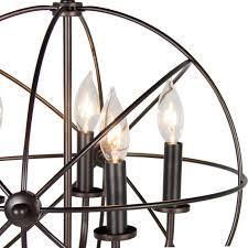 Tadpoles 3 Light Mini Chandelier by Industrial Vintage Lighting Ceiling Chandelier 5 Lights Metal
