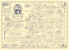 Chelsea Map Historic Map Traces Abraham Lincoln U0027s Visit Through Massachusetts
