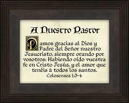 a nuestro pastor our pastor appreciation gift lordsart